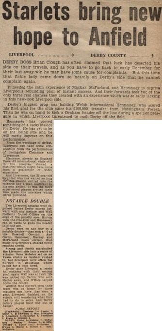 Starlets bring hope to Anfield - 28 February 1970