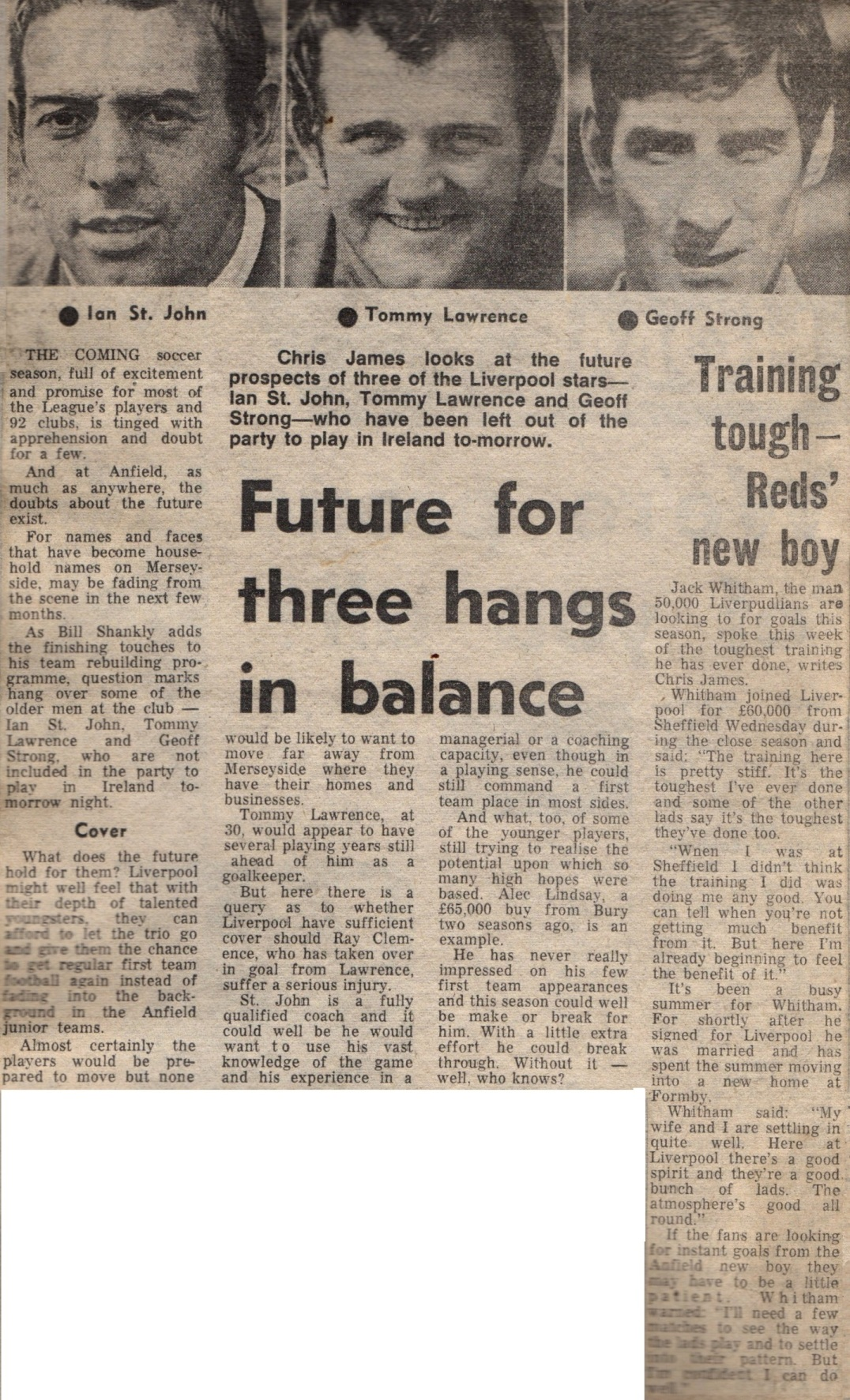 Future for three hangs in balance - August 1970
