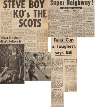 Steve boy KO's the Scots - from 22 December 1970