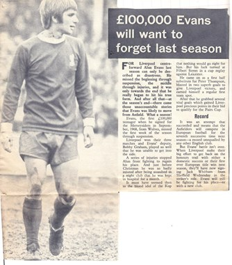 Evans wants to forget the 1969/70 season