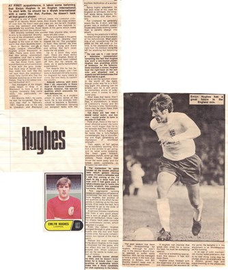 Emlyn Hughes like an eager kid in action