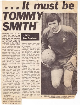 Tommy must be the player of the 1970/71 season