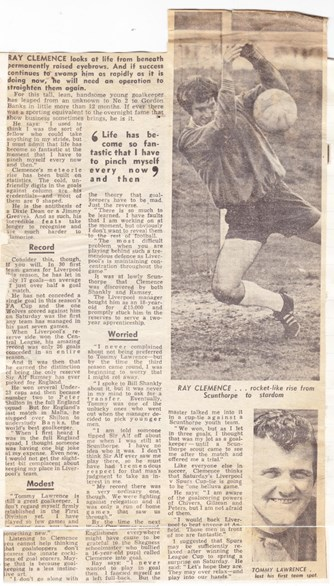 The rise and rise of Ray Clemence - 6 March 1971