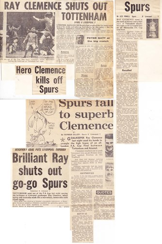 Clemence shuts out Tottenham on 16 March 1971