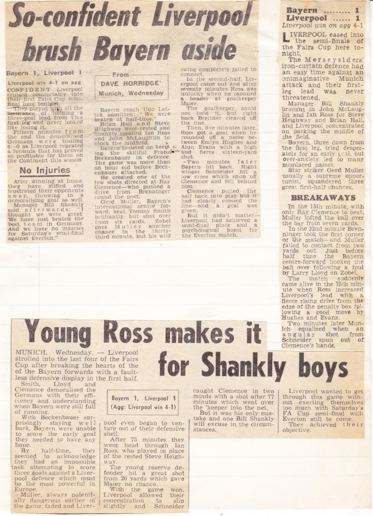 Young Ross makes it for Shankly boys - 24 March 1971