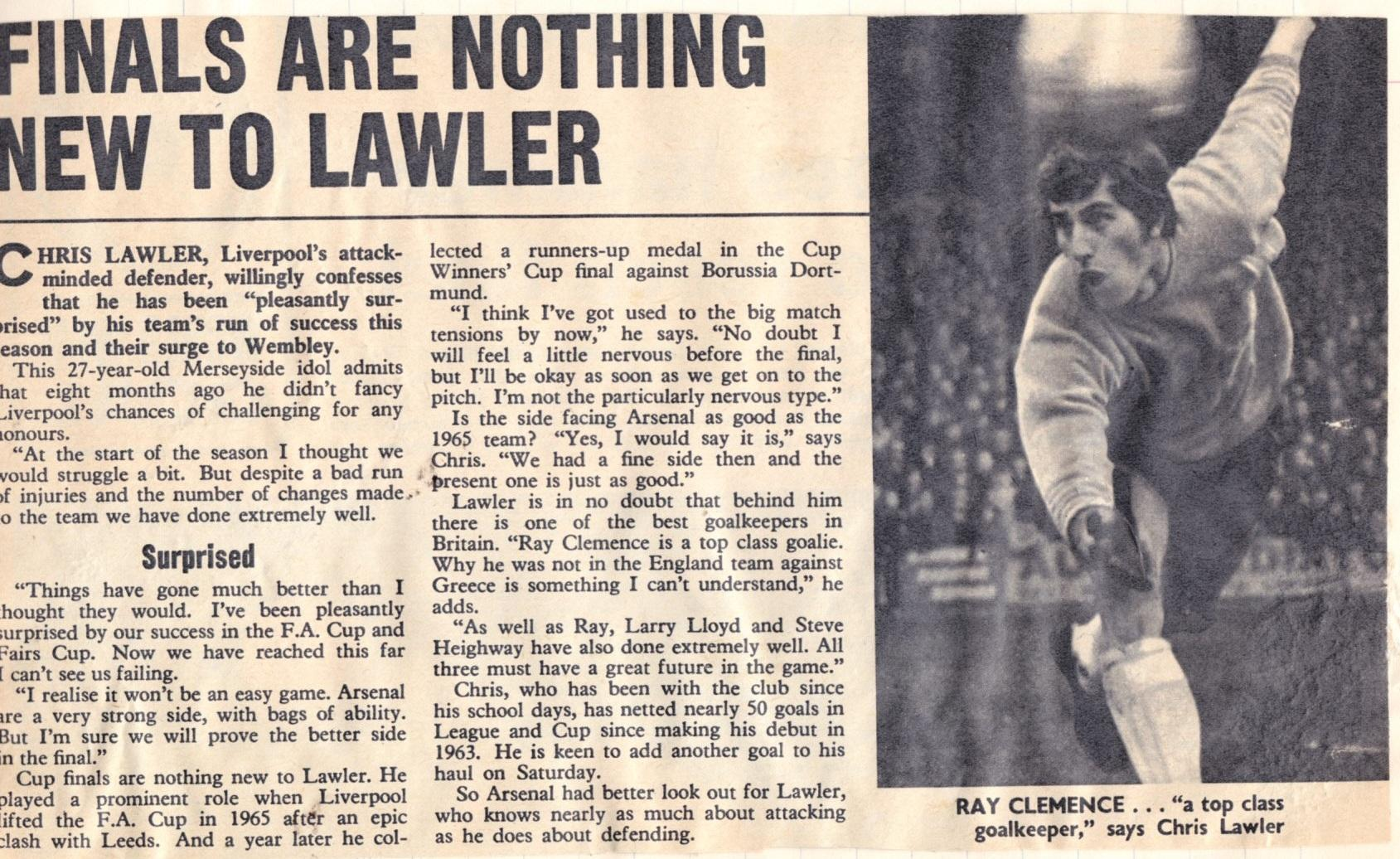 Finals nothing new to Lawler - from May 1971