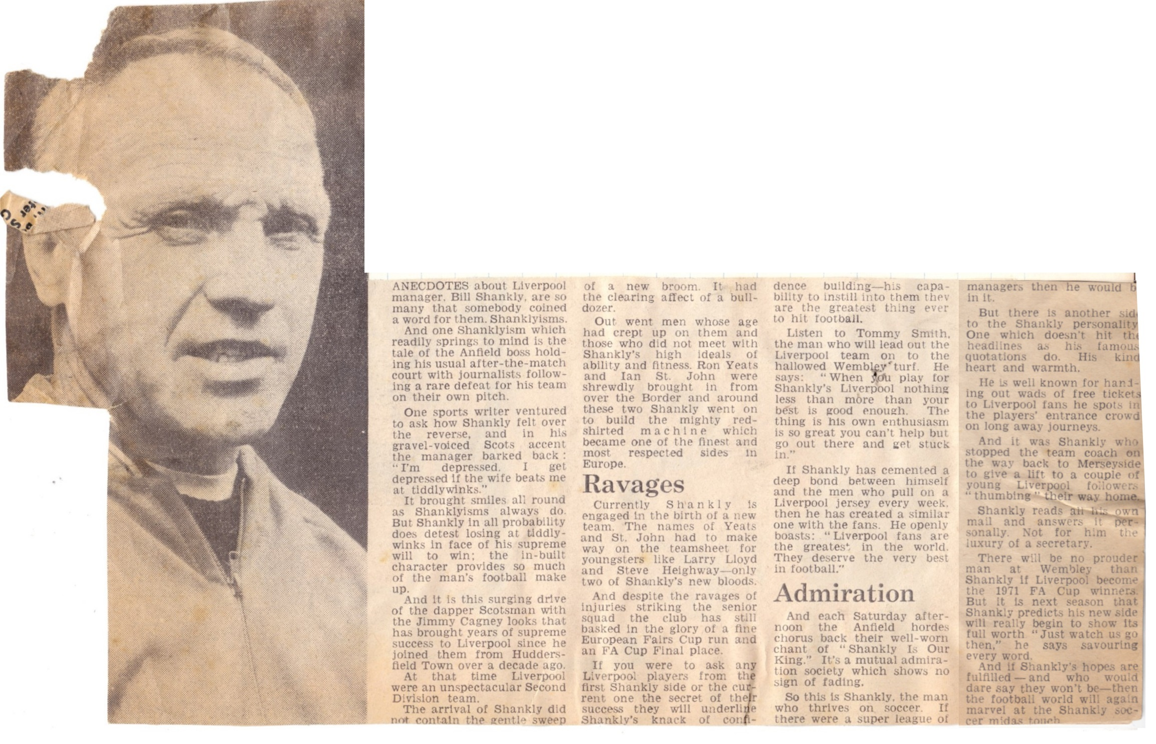 Shankly cleaned house - 8 May 1971