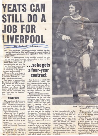 Yeats can still do a job - from the 1971/72 season