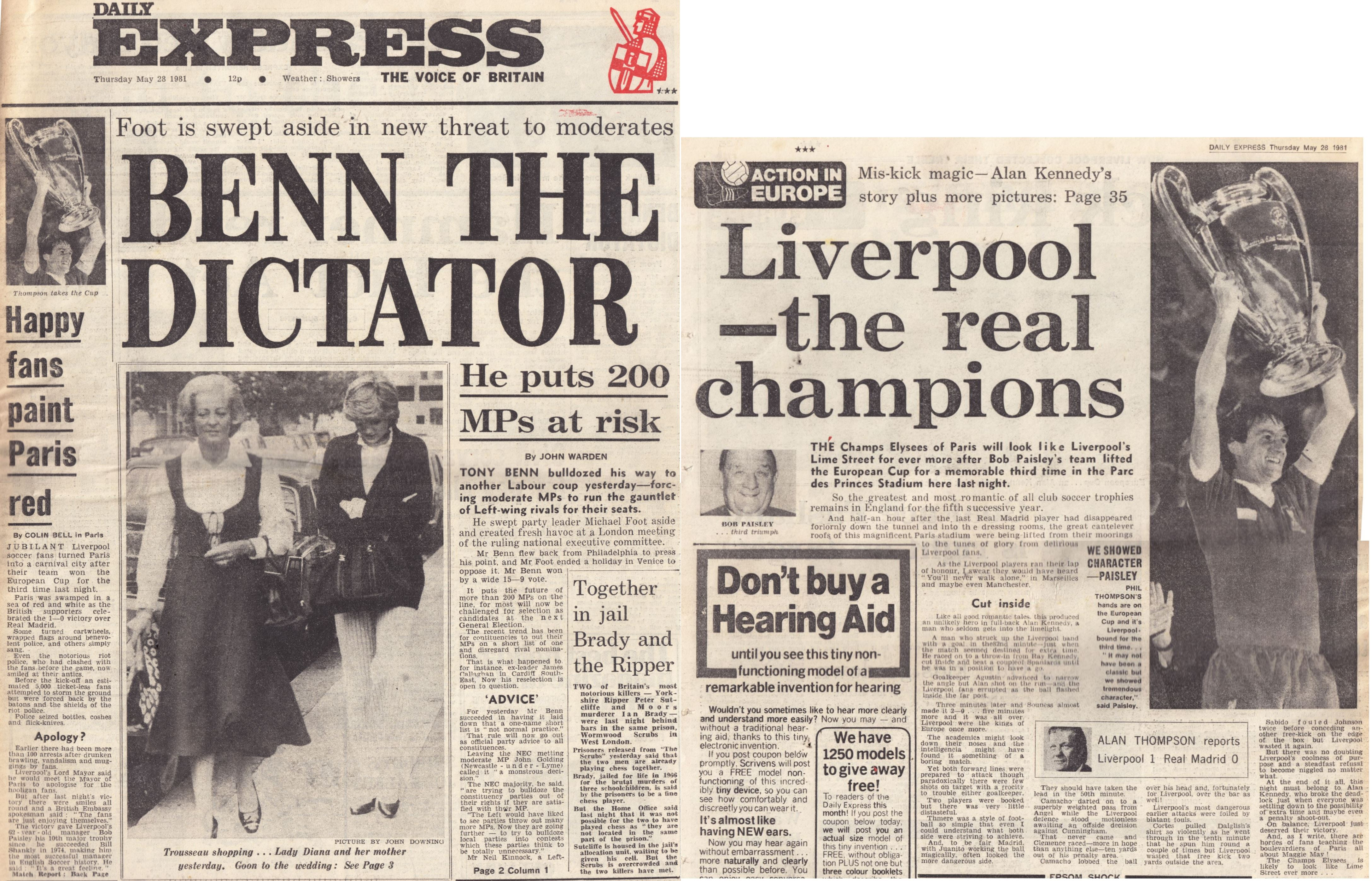 Liverpool the real champions! - 1981