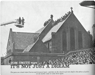 Church goers at Goodison