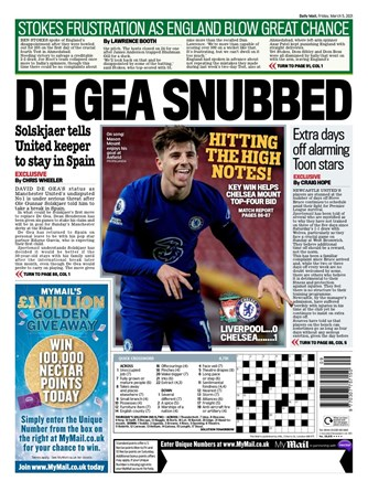 Daily Mail Backpage