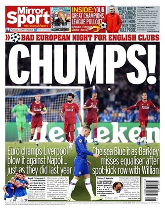 Daily Mirror Backpage