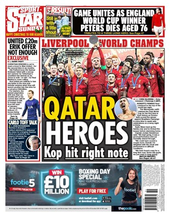 Daily Star Sunday Backpage
