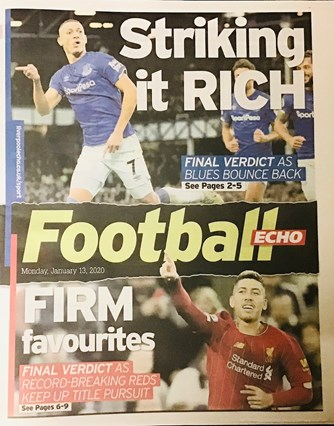 Football Echo Frontpage