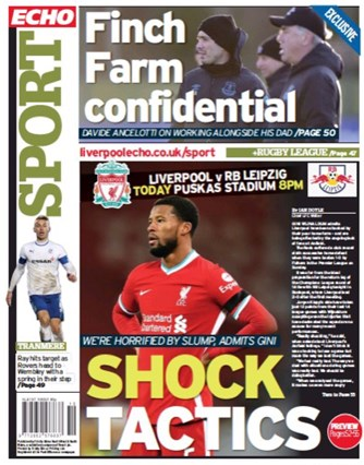 Liverpool Echo Backpage (Before match)