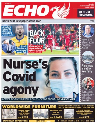 Liverpool Echo Front Page