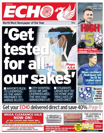 Liverpool Echo Frontpage