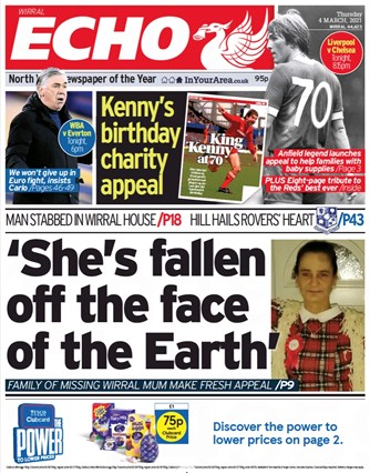 Liverpool Echo Frontpage (Before)