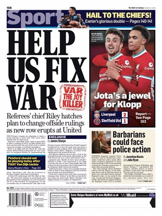 Mail on Sunday Backpage