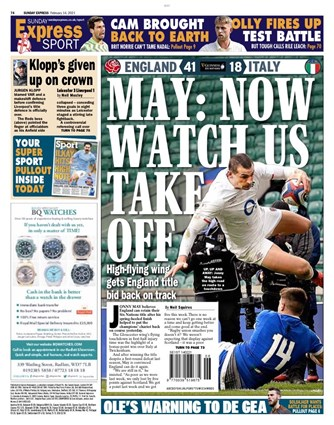 Sunday Express Backpage