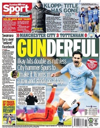 Sunday Mirror Backpage