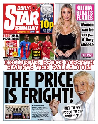 Sunday Star Frontpage