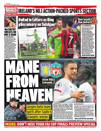 Sunday World Backpage
