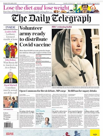 The Daily Telegraph Frontpage