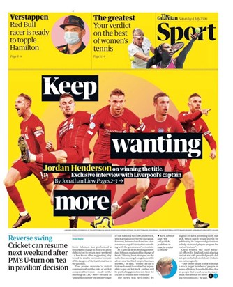 The Guardian Backpage (04.07.2020)