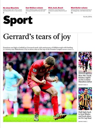 The Independent Backpage
