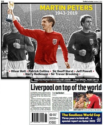The Mail on Sunday Backpage