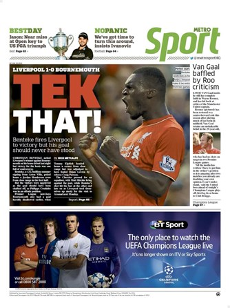 The Metro Backpage