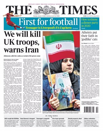 The Times Frontpage