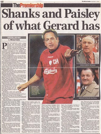 Thompson believes in Houllier - 4 November 2001