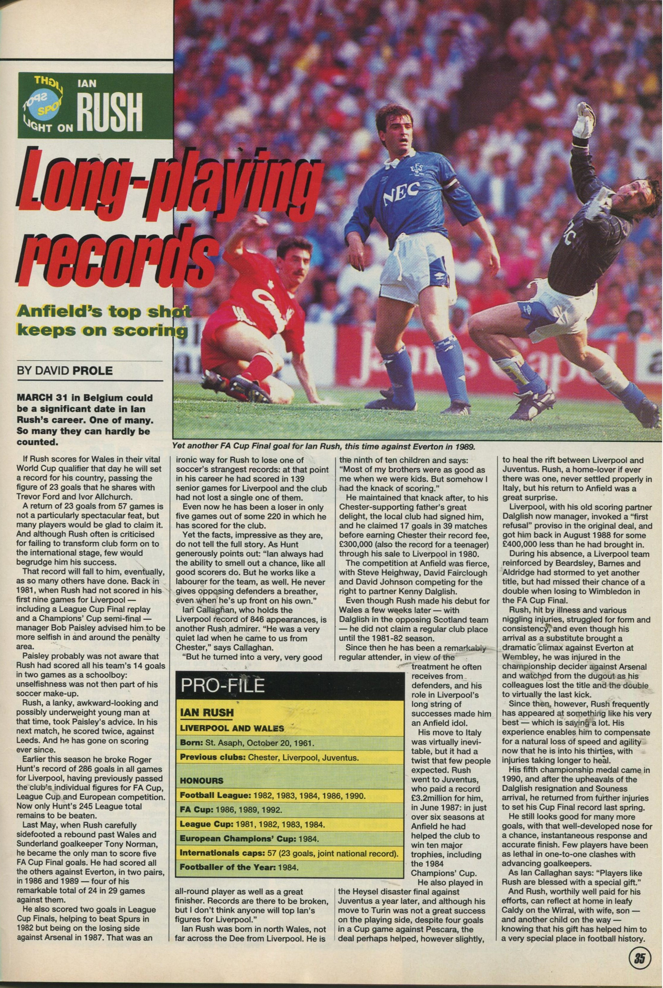 1e25dc41a Liverpool career stats for Ian Rush - LFChistory - Stats galore for ...