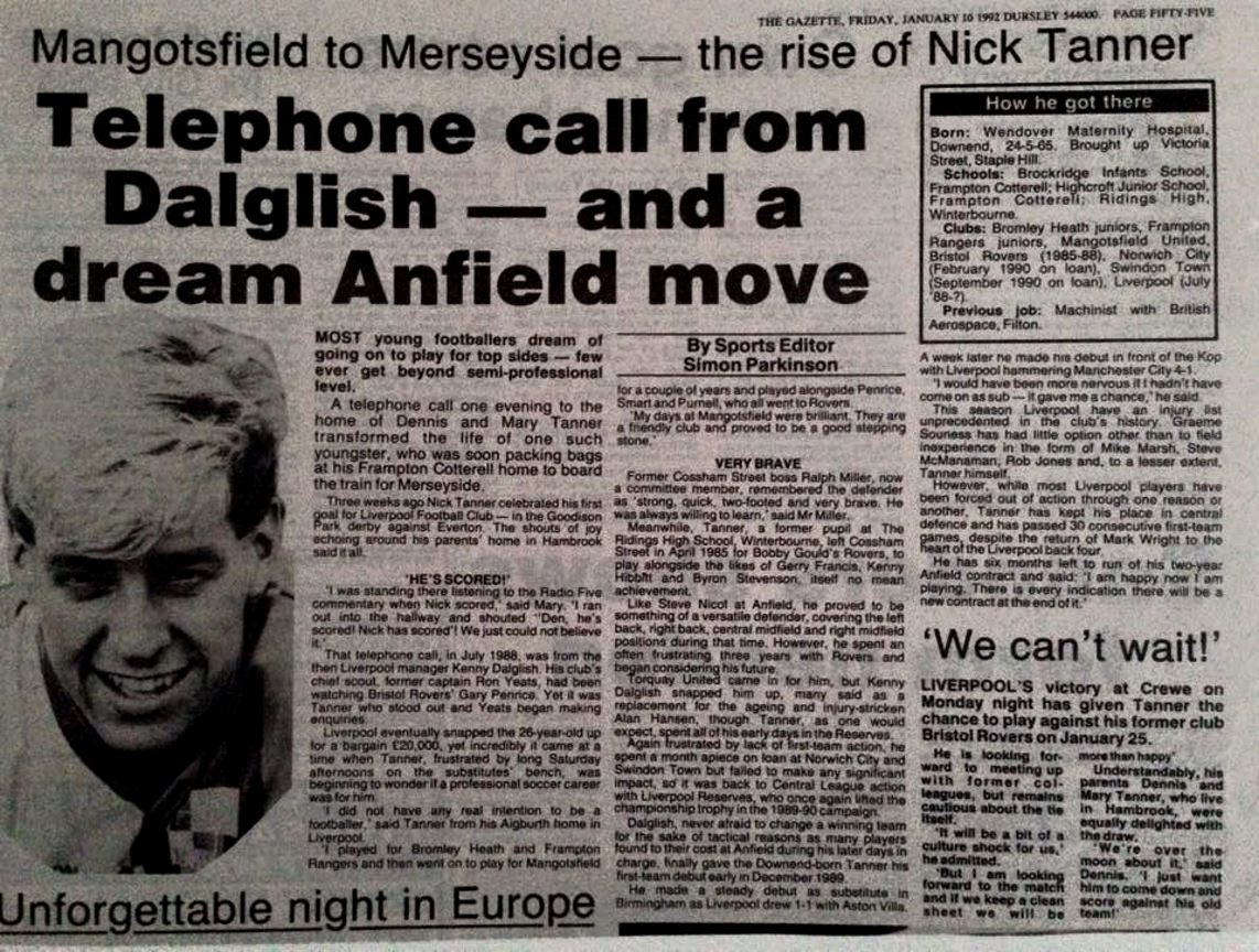 The rise of Nick Tanner - The Gazette 10 January 1992