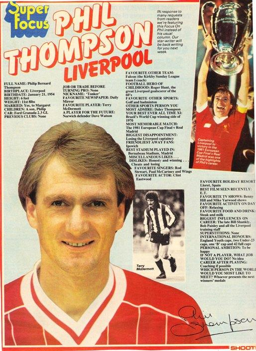 Shoot Super Focus On Phil Thompson