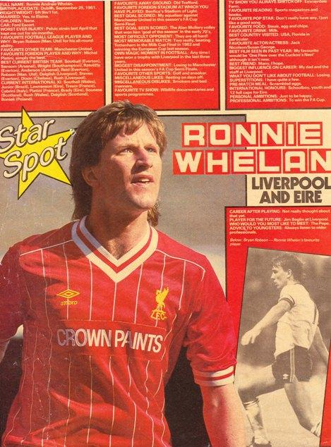 e1fa23867be Ronnie Whelan in Match s Star Spot 1985 - LFChistory - Stats galore ...