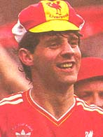 Jim Beglin celebrates the FA Cup win in 1986