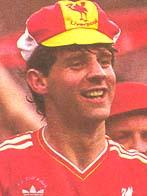 Jim Beglin celebrates the FA Cup win in 1986