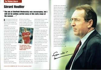 Match programme - Article