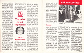Treble not impossible, says Paisley - 23 April 1977