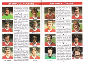 Pen pics of Liverpool from match programme