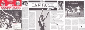 Goodbye Rushie - Liverpool fan club magazine 1987