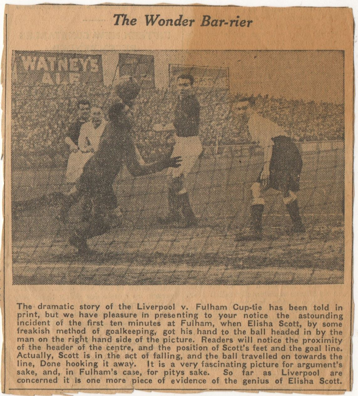 Elisha's wonder save - 17 January 1934