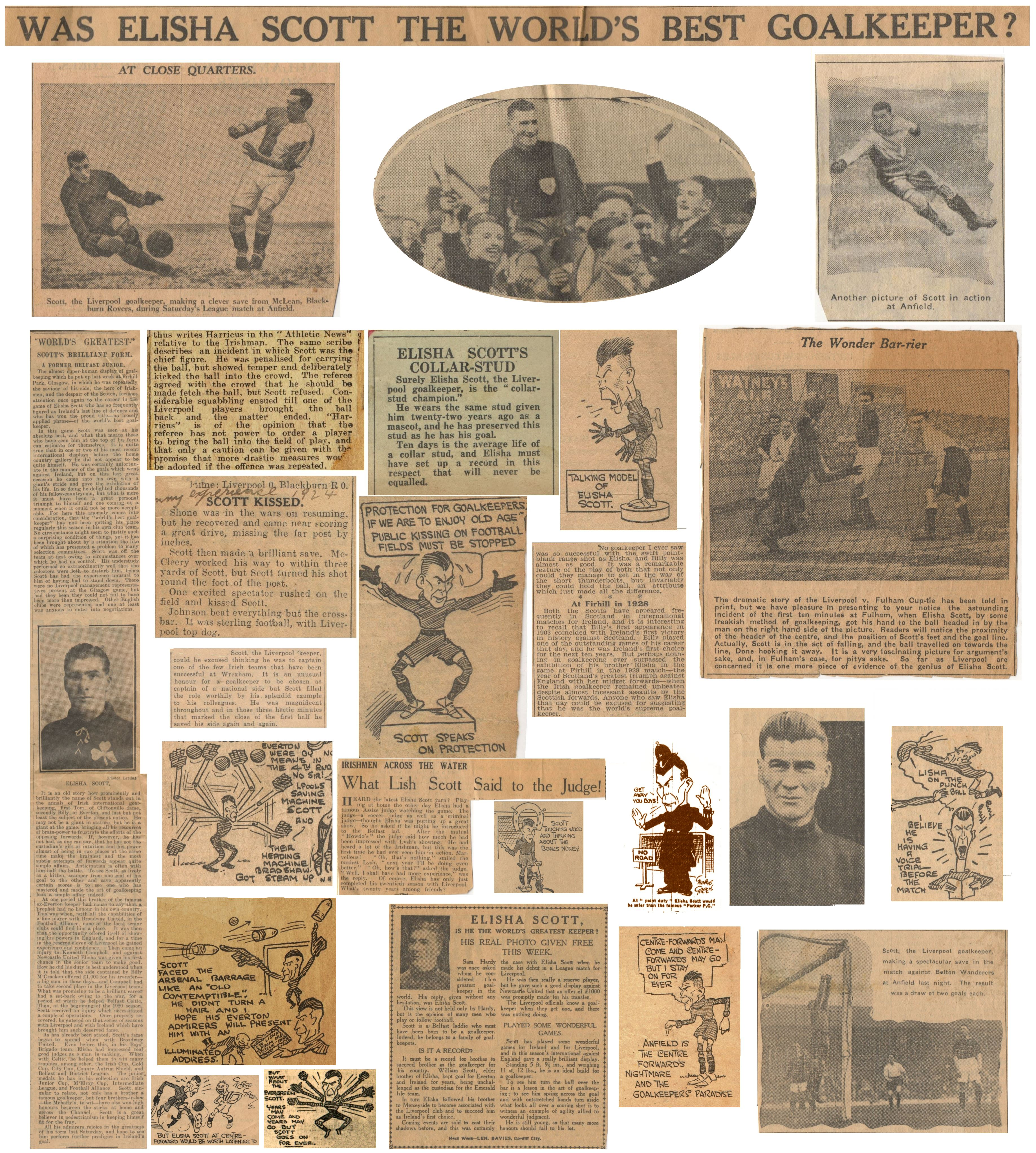 Was Elisha Scott the world's best goalkeeper? - a photo collage by LFChistory.net