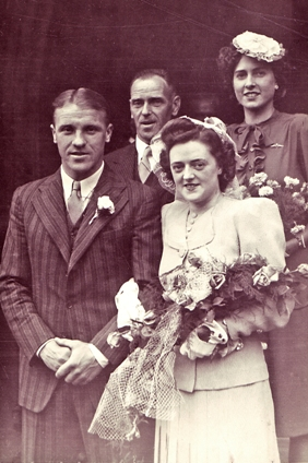 Shanks and Ness on their wedding day 29th June 1944