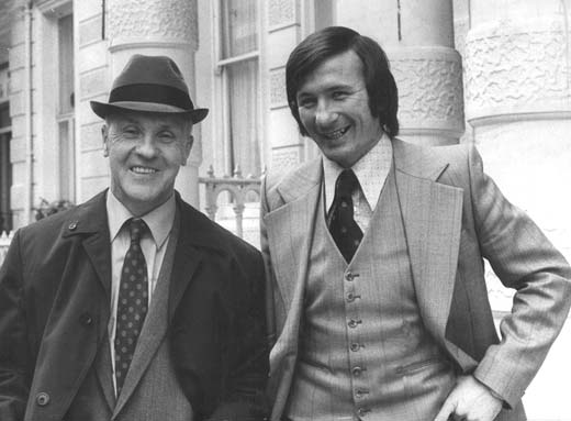 Bill Shankly and Tommy Smith in November 1973