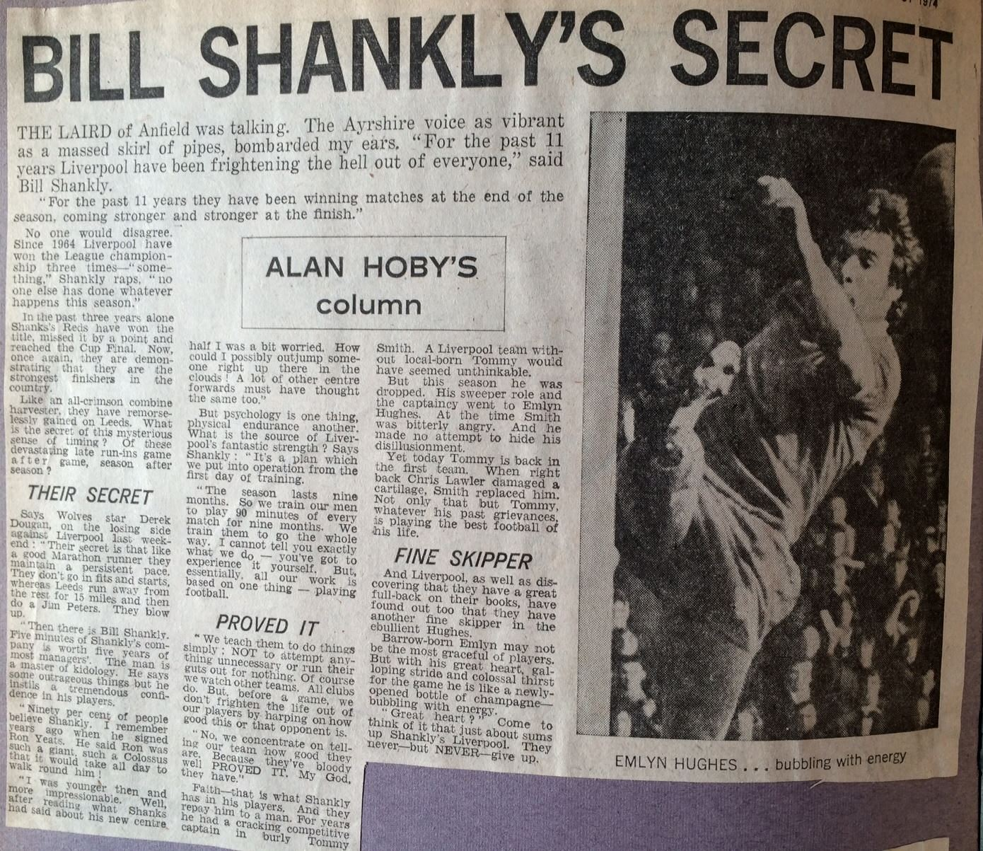 Shankly's Secret - 31 March 1973