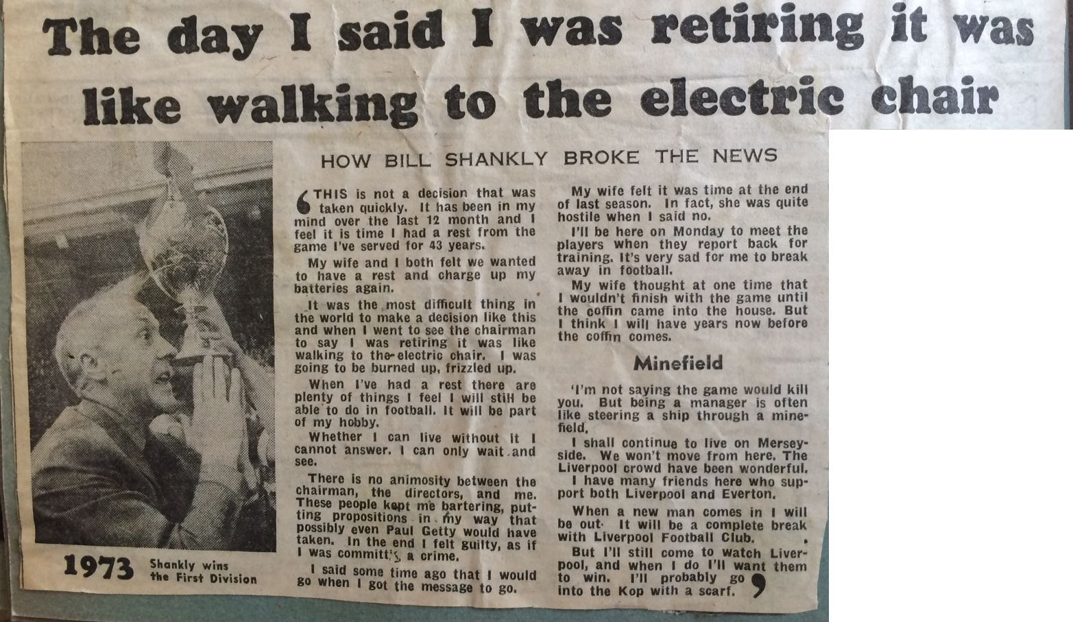 Like walking to the electric chair - Daily Mail 13 July 1974